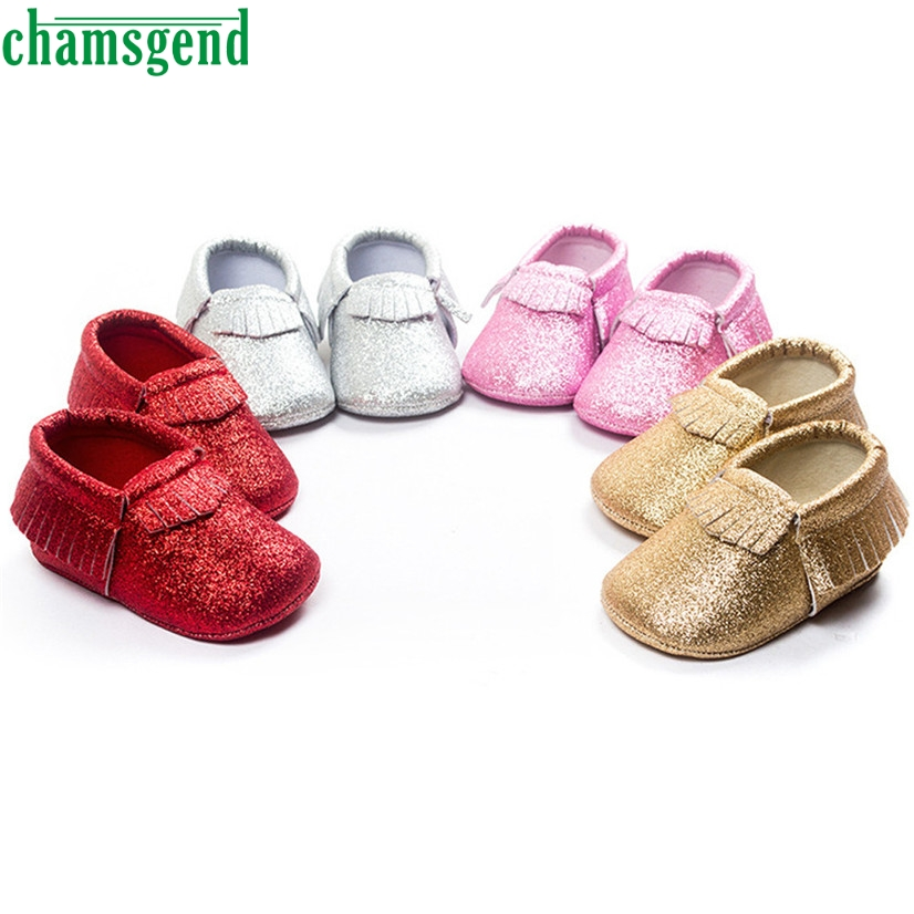 CHAMSGEND Best Seller Baby Crib Tassels Sequins Shoes Toddler Soft Sole Sneakers Casual  ...
