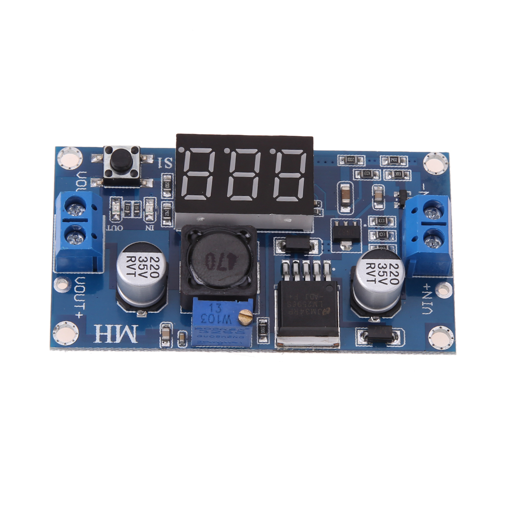 DC-DC Buck and Boost Voltage Converter Voltmeter Display LED Step Down and Up Power Supply 4-40V Voltmeter