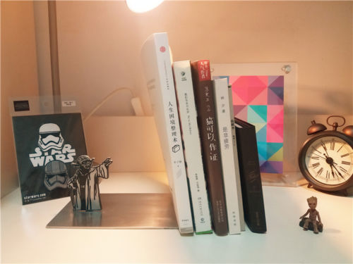 New Star Wars Master Yoda Metal Bookrack Bookshelf Bookends Book