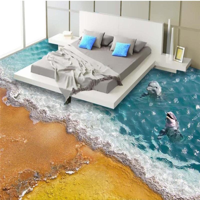 Beibehang 3d pvc flooring custom 3d bathroom floor for 3d waterproof wallpaper