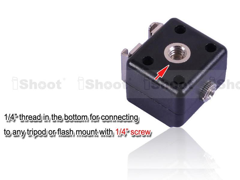 Двойное крепление-адаптер для горячего башмака триггера вспышки с 3,5 мм разъемом синхронизации для Canon Nikon Pentax Olympus