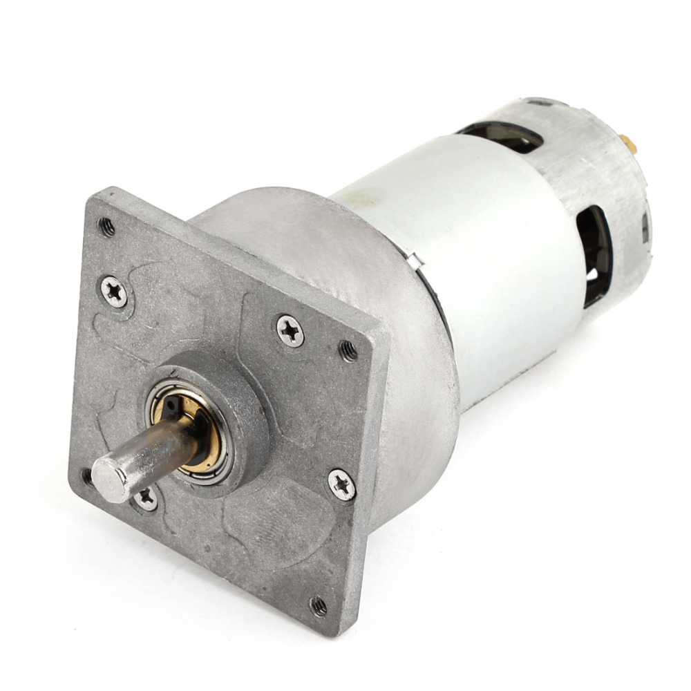 UXCELL(R) High Quality 1Pcs 15Kg.cm 8mm Shaft DC Geared Motor DC 24V 1.8A 600RPM dc 155a915z r