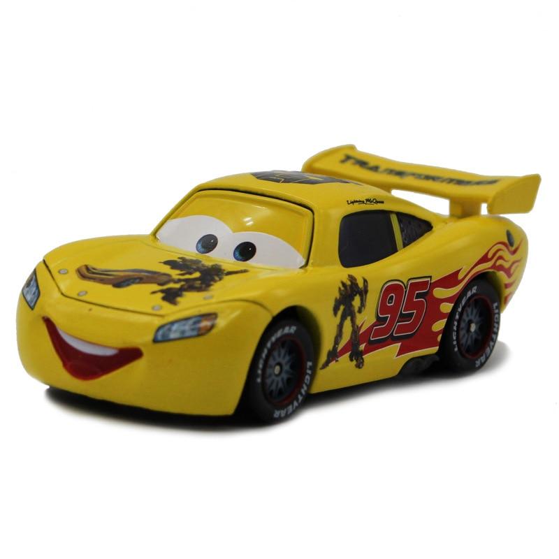 Disney Pixar Cars 2 No.95 Lightning Mcqueen Camaro Pattern Metal Diecast Alloy Toy Car Model For Children 1:55 Brand Toys New