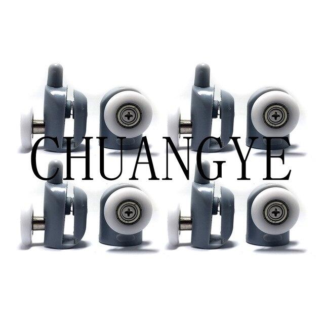 8 teilesatz edelstahl duschtr rollen lufer rder riemenscheiben 23mm25mm topbodenschraube - Duschtur Rollen