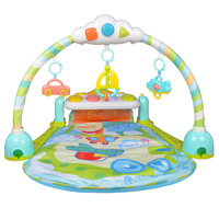 GOODWAY Baby Color Blue Activity Play Gym Mat Music Piano rattle Gym Carpet Toys for Baby Early Education