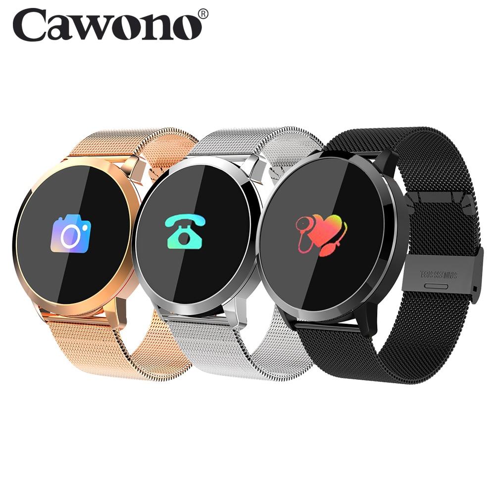 Cawono Q8 Waterproof Color Touch Screen Smart Watch Smart Fashion Electronics Men Women Heart Rate Fitness Bracelet Smartwatch