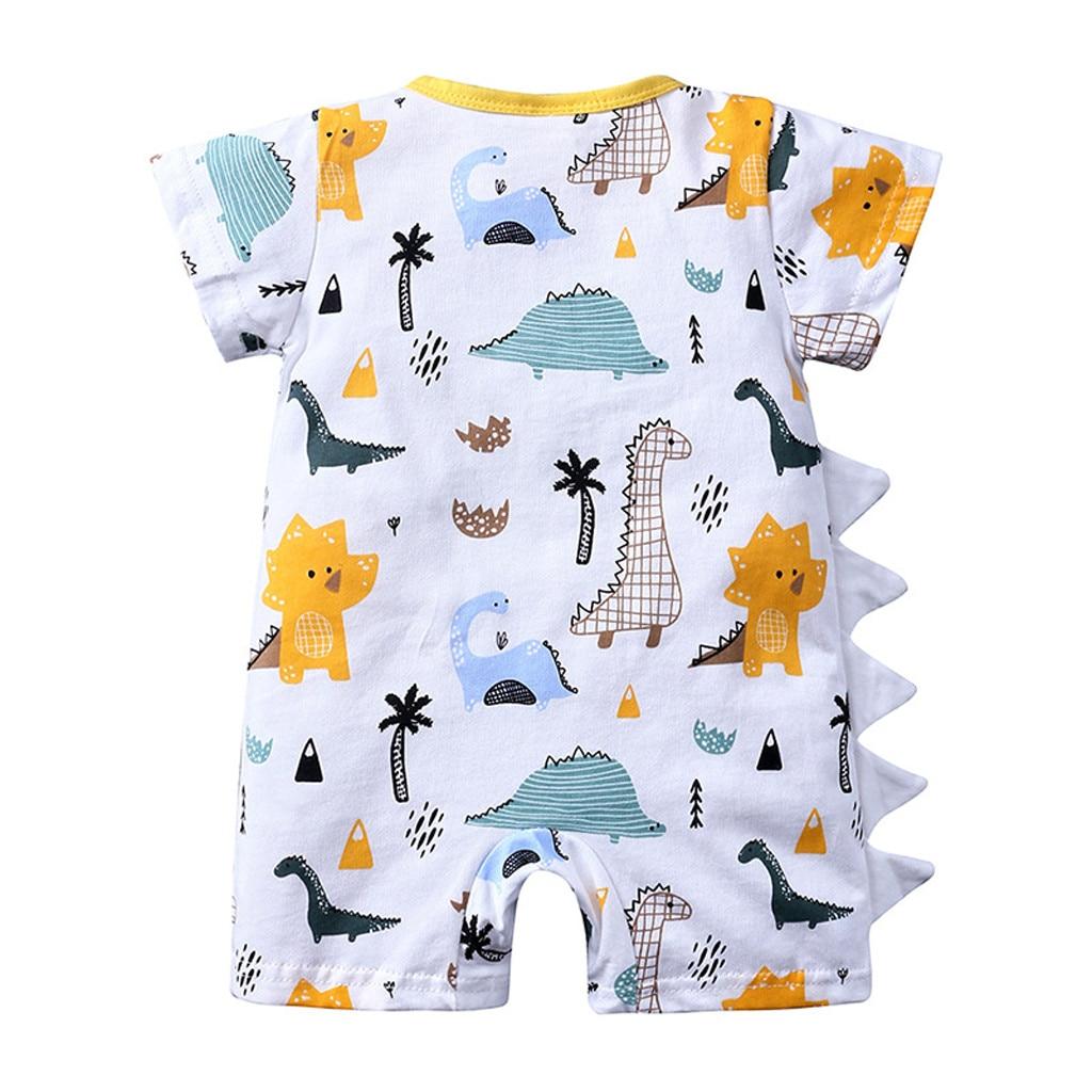 Newborn Infant Baby Boys Girls Dinosaur Romper Jumpsuit Bodysuit Outfits Clothes
