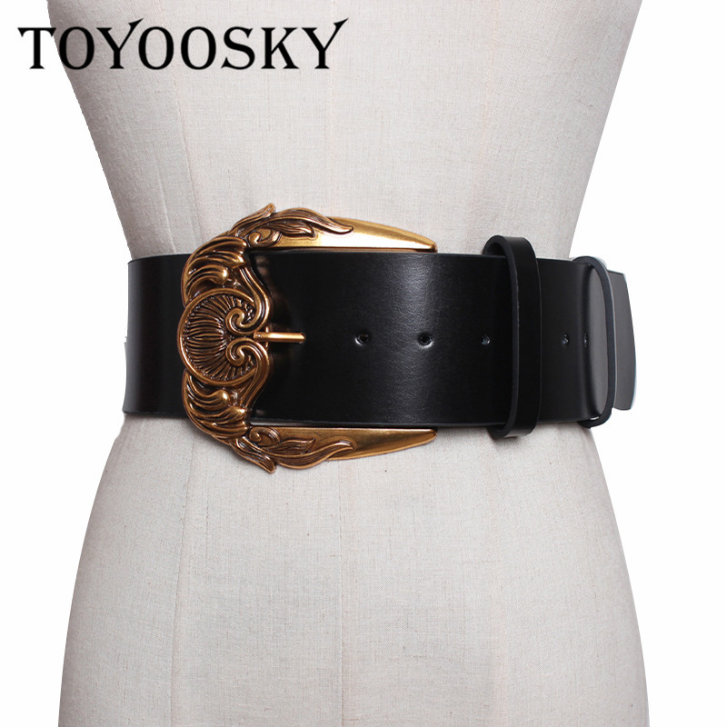 2020 Popular Women Fashion Belts For Split Leather Belt Quality Carving Buckle Waist For All-Match Lady Female Belts TOYOOSKY