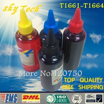 Dye refill ink Suit for Epson T1661-t1664 Cartridges ,suit for Epso me10 , Epson me101 . specialized ink dye refill ink suit for epson t5846 cartridges suit for epson pm280 pm200 pm240 pm290 pm225 specialized ink