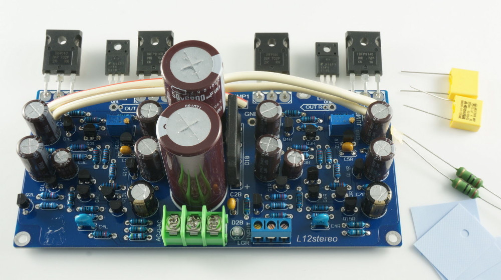Assembled L12 IRFP140 IRFP9140 Stero Audio power amplifier board DIY AMP assembled amplifier board 700w power amplifier board without radiators diy amp board