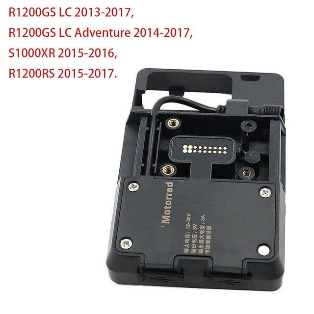 Mobile Phone USB GPS Navigation Bracket USB Charging Mount For BMW S1000XR 2015-2016 / R1200RS 2015-2017 USB Charger Holder KIT