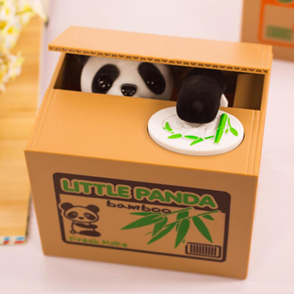 2015 automated cat steal coin bank kitty panda money box for Home money box