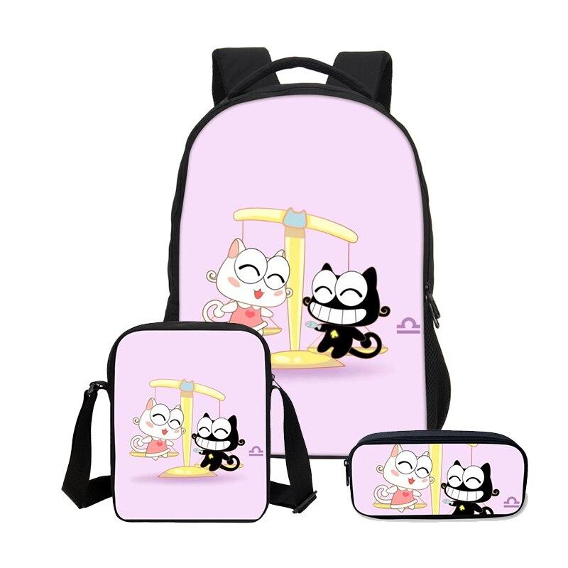 VEEVANV nouveau 3 pièces/ensemble 3D Animal Bookbag enfants sacs à dos hommes Cool Lion impression sac à dos sac d'école mode garçons sac à bandoulière