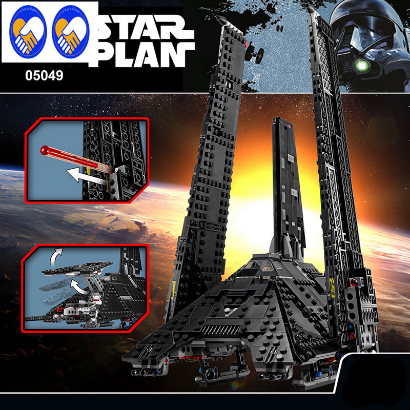 A Toy A Dream 863Pcs Lepin 05049 Star War Series The Imperial Shuttle Building Blocks Bricks Toys Compatible with lepin 75156 lepin 22001 pirate ship imperial warships model building block briks toys gift 1717pcs compatible legoed 10210