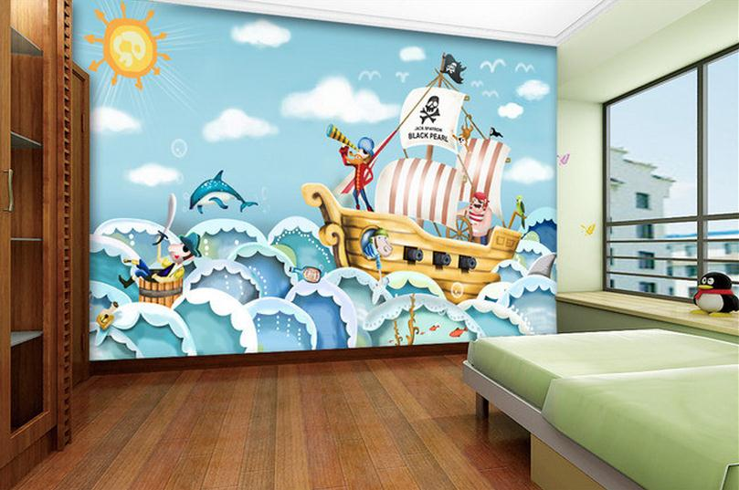 popular cartoon pirate ship buy cheap cartoon pirate ship pirate theme wall murals examples of pirate wall murals