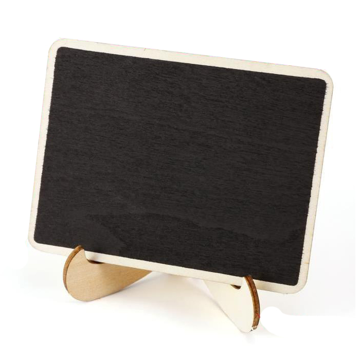HOT-24 Pieces Mini Hanging Writable Erasable Blackboard In Wood Message Board Wooden Table Decoration Board For Wedding And Pa