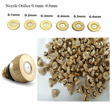 50 pieces brass nozzle 0.1-0.6mm for Garden Water Mist Spray Sprinklers Misting Cooling flowers plant greenhouse