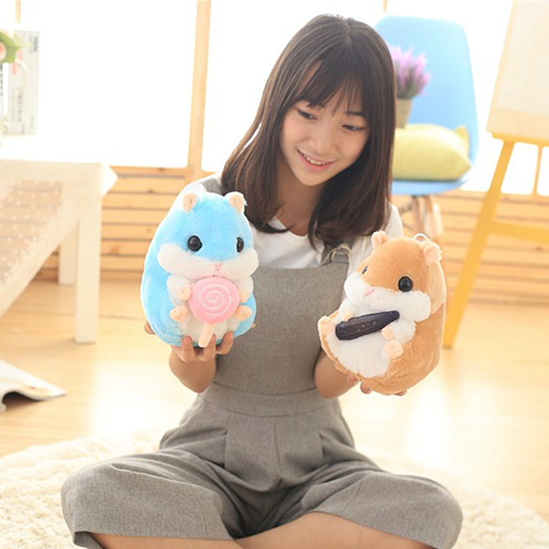 Tibbers New Plush Toys 22cm Kawaii Hamster Stuffed Animal Plush Sleeping Cushion Baby Bed House Pillow Kids Christmas Gifts Toys 1 pcs electric vocal hamster toy nodding talking hamster toy sound record repeat stuffed animal baby interactive toys kid s gift