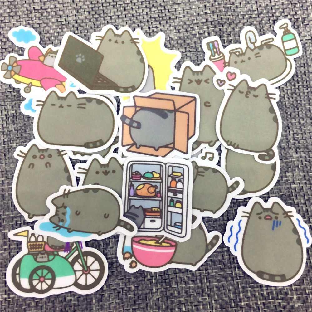 40 различных Мини мультфильм бумага для кошки стикеры украшения DIY Ablum наклейки для дневника Скрапбукинг этикетки Kawaii Канцелярские