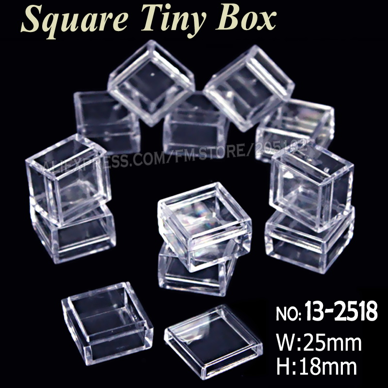 Clear Bead Containers Small Plastic Box for Nail Art Decoration Rectangle Box