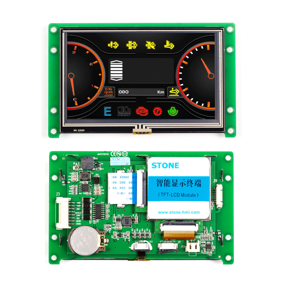 Intelligent 4.3 LCD TFT Control Panel Monitor Full Colors Dsplay With RS485 InterfaceIntelligent 4.3 LCD TFT Control Panel Monitor Full Colors Dsplay With RS485 Interface