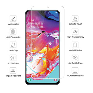Image 4 - מזג זכוכית עבור Samsung Galaxy A70 מסך מגן 2.5D 9 שעתי מזג זכוכית עבור Samsung A70 SM A705F/DS A7050 מגן סרט