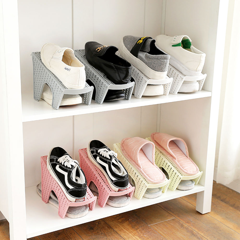Double Layer Shoes Rack In Plastic 7