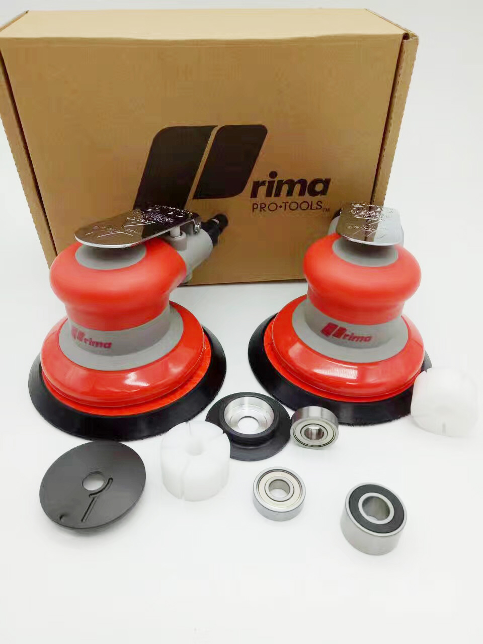 Pneumatic Sanders TAIWAN PRIMA Air Tools Palm Orbital Sander Polisher 5 Inch Circle Round Pad OSN-50VE High Quanlity Industrial 5 inch 125mm pneumatic sanders pneumatic polishing machine air eccentric orbital sanders cars polishers air car tools