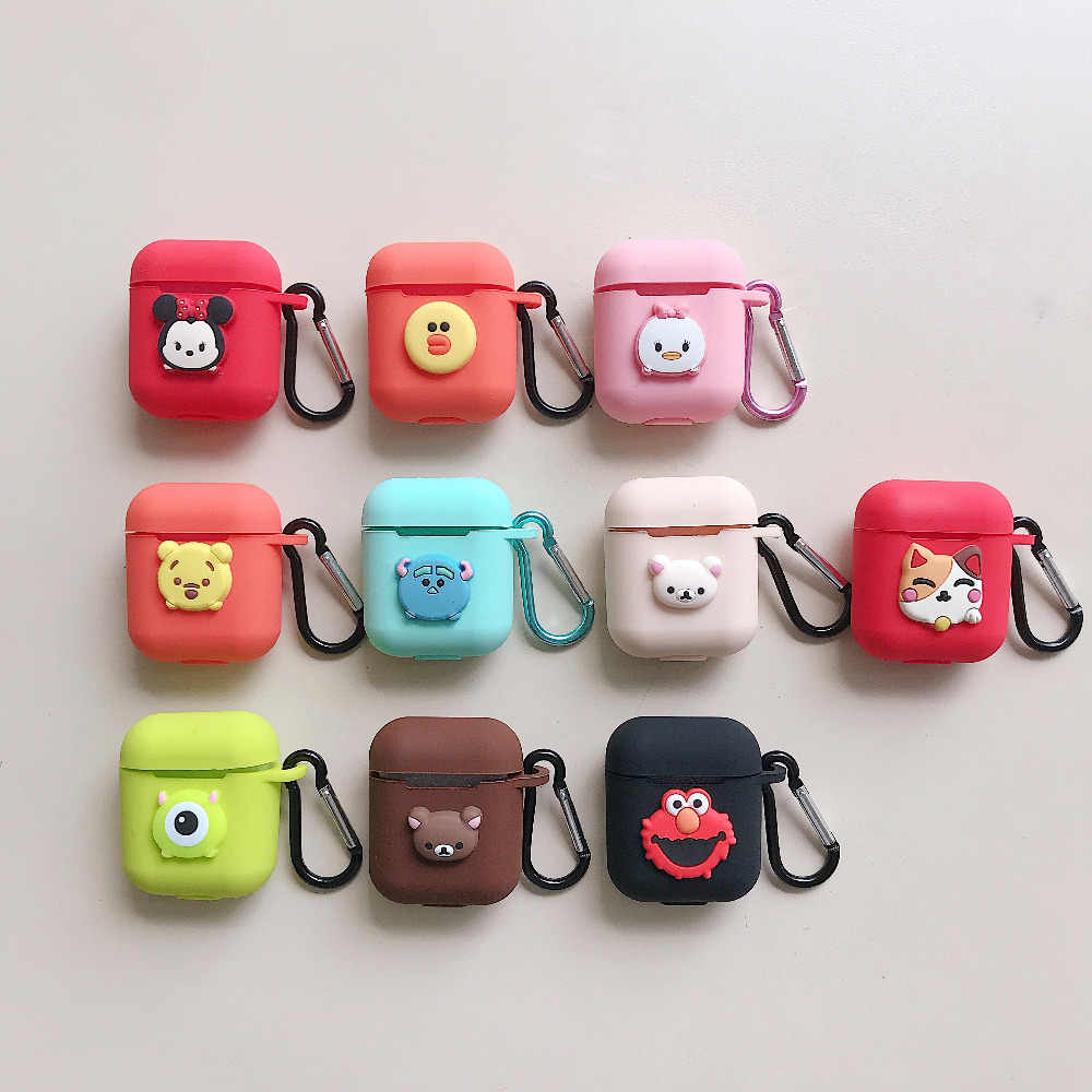 Cute Girl's Cartoon Anime TPU Shockproof Soft Silicone Protective Cover Case for Apple New Airpods 2 Charging Box Accessories
