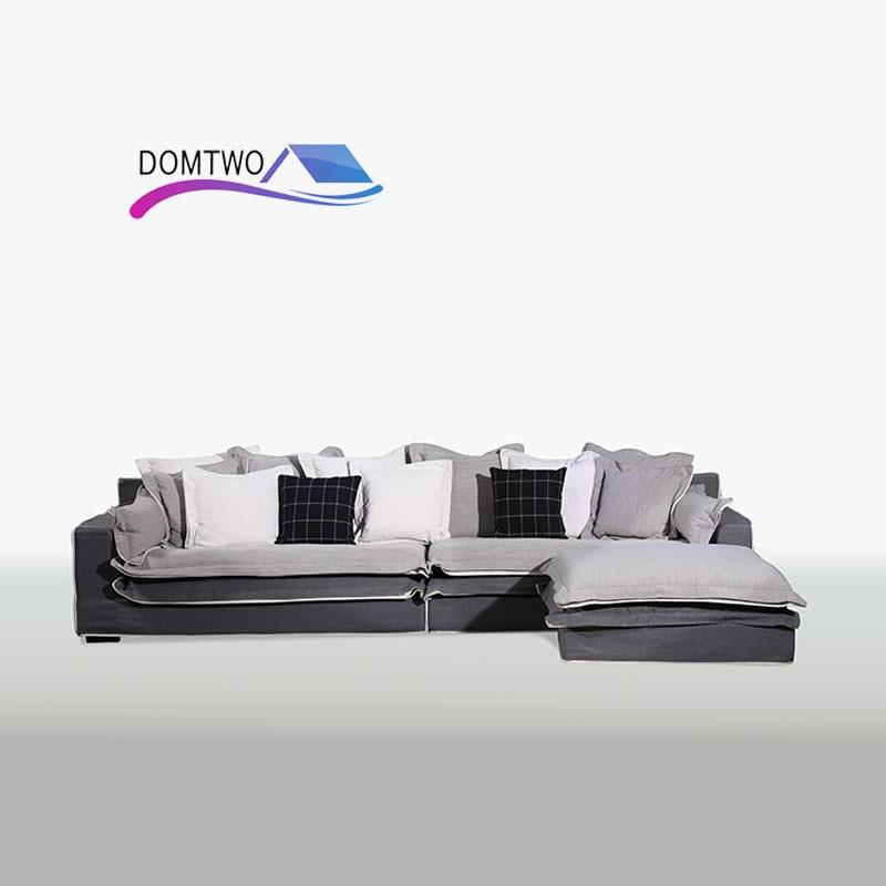 Nordic Cloth sofa sofa living room Wholesale Corner combination Furniture modern Simple corner sofa