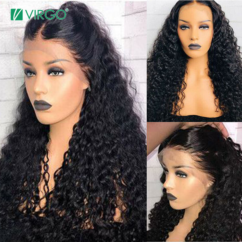 Virgo Water Wave Wig 13x6 Transparent Lace Front Human Hair Wigs For Black Women Brazilian Remy Lace Frontal Wig Pre Plucked