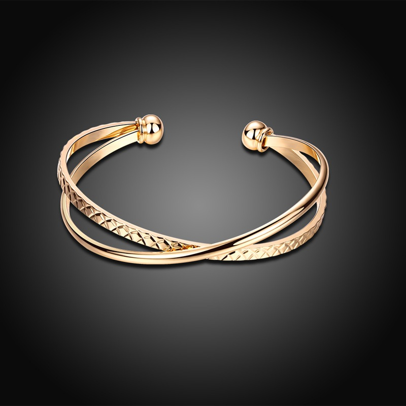 BOAKO Top Quality Bracelet & Bangle for Women Captivate Slider CZ Rose Gold Color Jewelry Bracelet Pulseira Feminina Z3