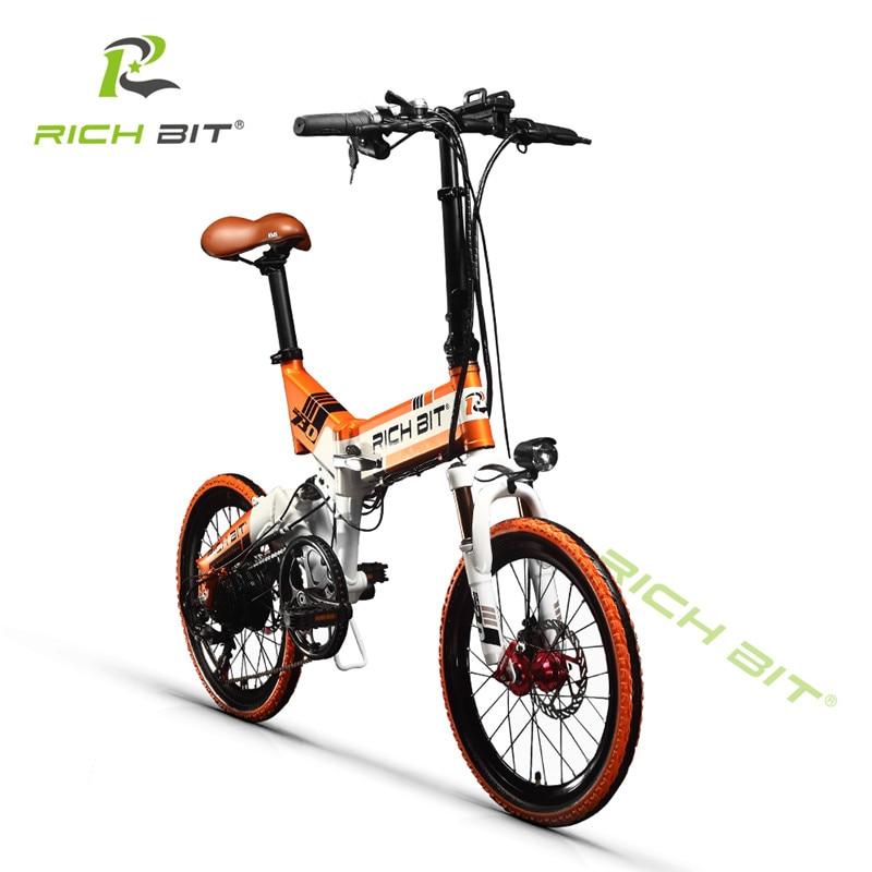 RichBit Mtb ebike 48 V 8AH Baterai Tersembunyi Lipat Sepeda Listrik 7 - Bersepeda - Foto 5