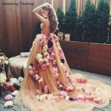 dreaming truing Spring Summer 3D Flower Wedding Dresses