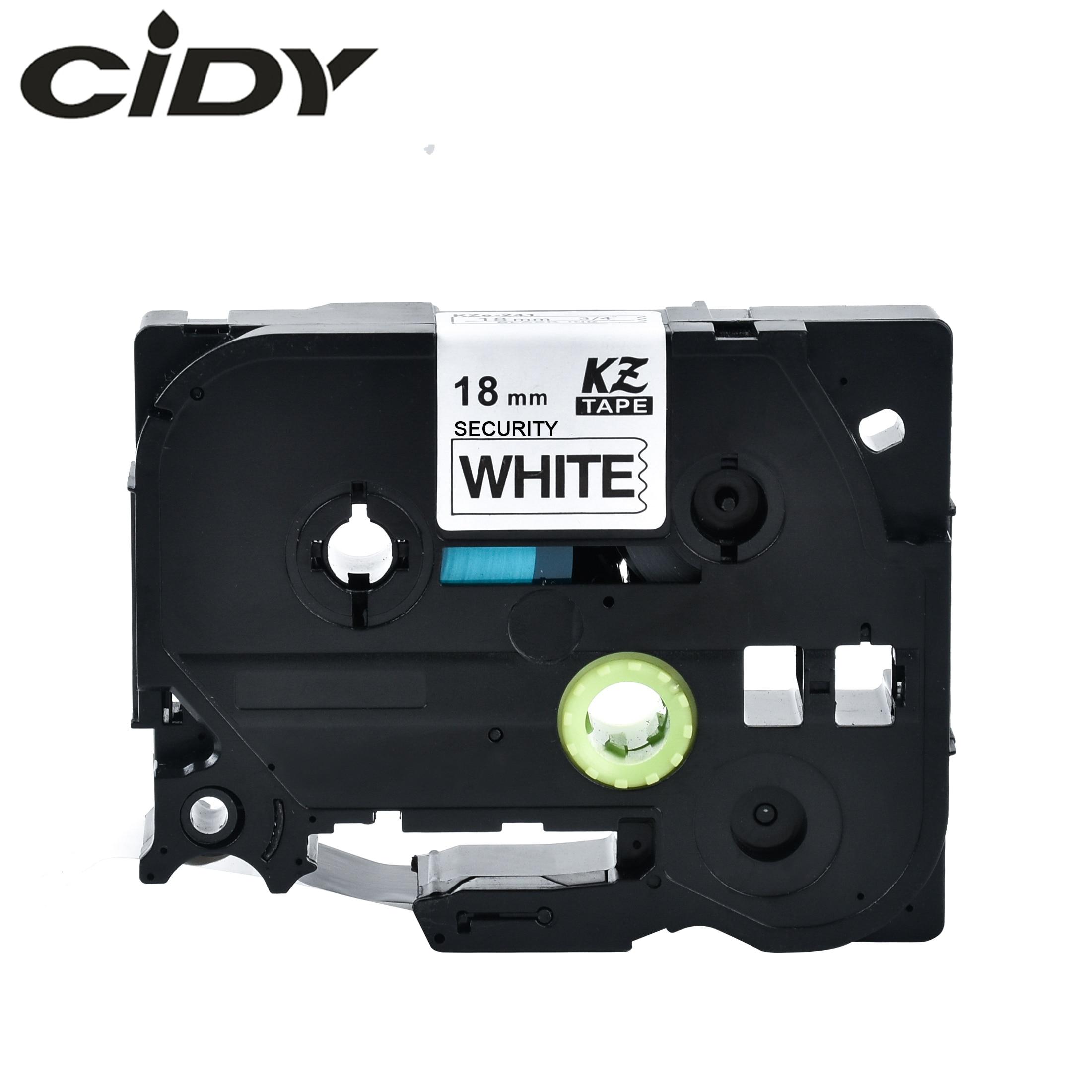 Cidy 20pcs 18mm Compatible Security label tapes TZe SE4 TZe SE4 TZ SE4 TZ SE4 p