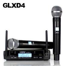 GLXD24 GLXD4 Профессиональный UHF беспроводной микрофон системы Beta58a ручной микрофон Двухканальный беспроводной цифровой приемник для церкви