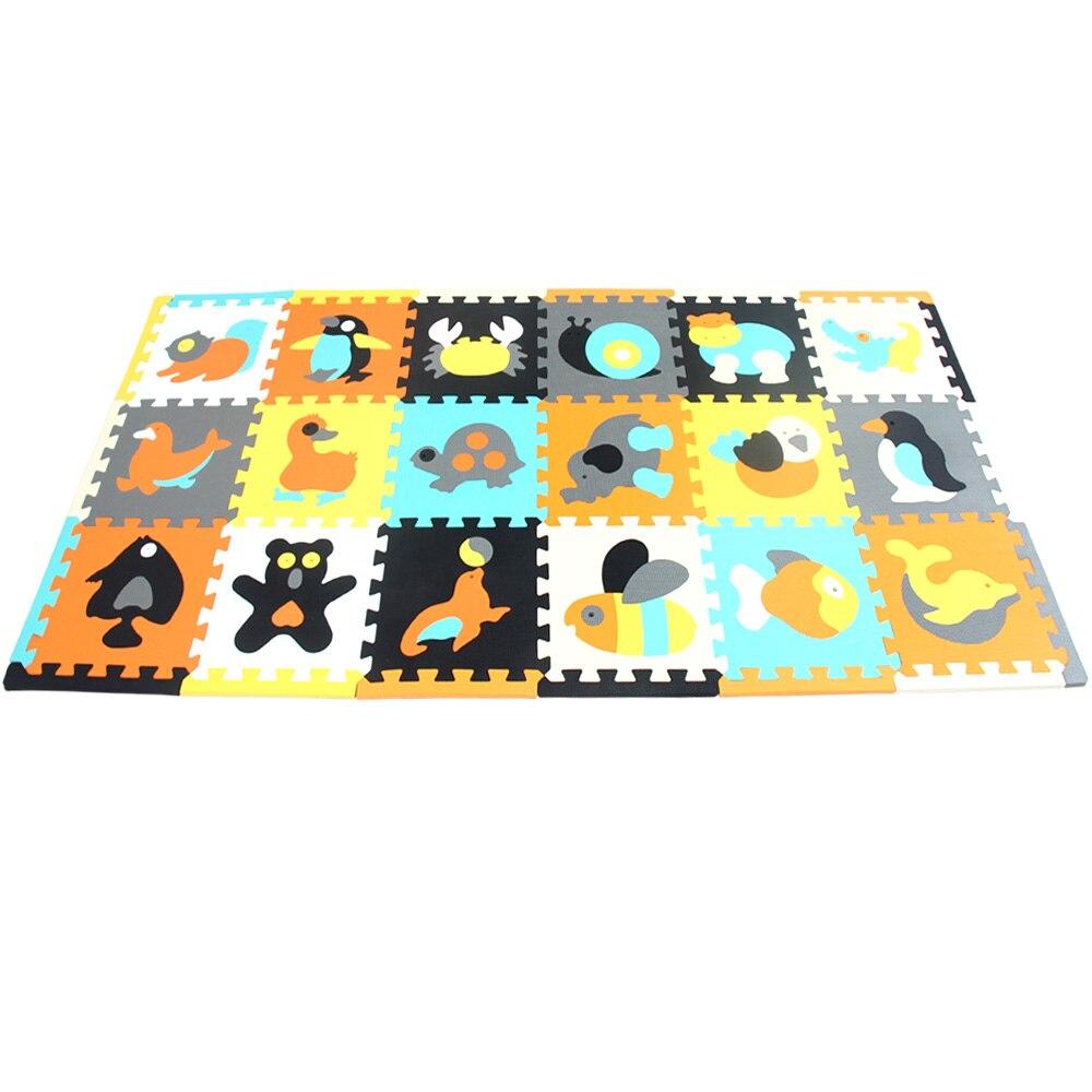 Tapis en mousse EVA pour enfants tapis en mosaïque tapis rampants 18 pièces/ensemble tapis de Puzzle tapis de jeu pour bébé tapis de Puzzle offre spéciale - 6