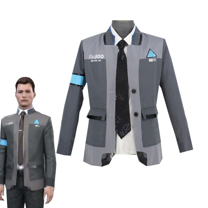 Game Detroit Become Human Connor Cosplay Costume RK800 Agent Suit Halloween Carnival Uniforms font b Men