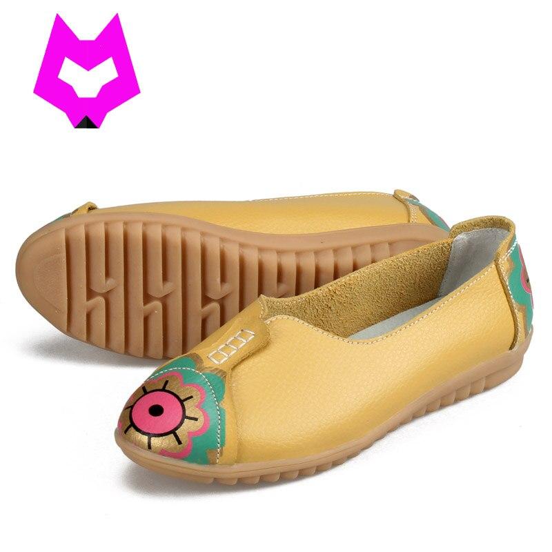 2017 Zapatos de La Madre Mocasines de Cuero de Moda de Verano Planos Ocasionales