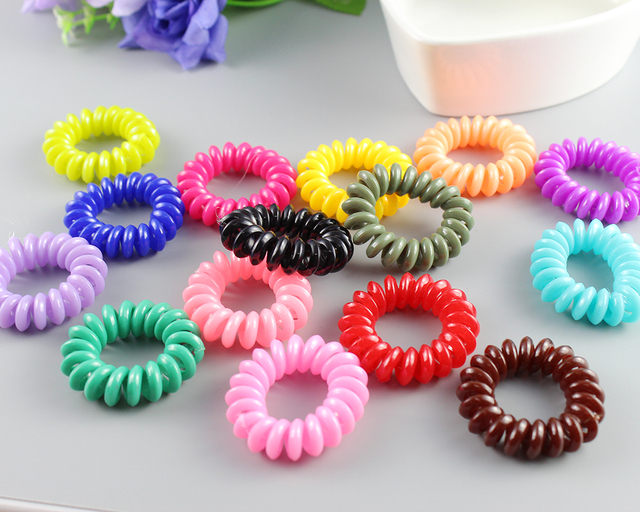 Cheaper Telephone Plastic strong Elastic Hair Bands For Girl Ponytail  Holders Hair Scrunchies Women Hair Jewelry Accessories 844bb9d0173
