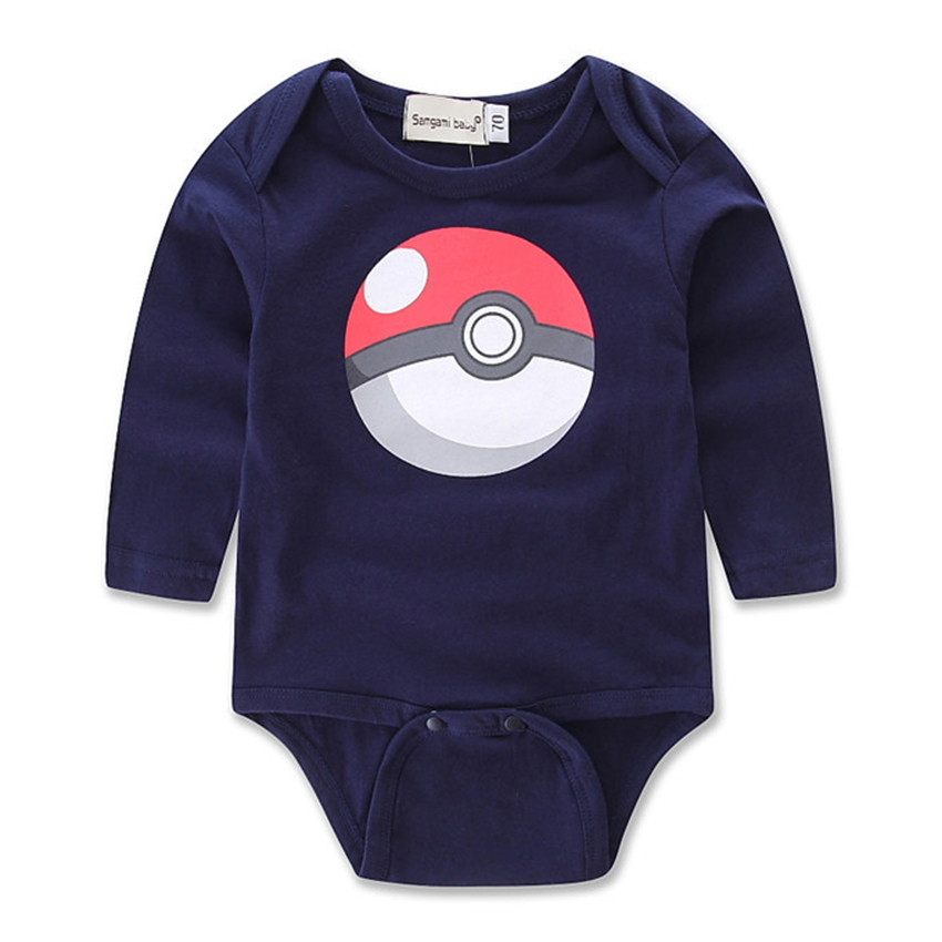 Pokemon Go 2018 Newborn Boy Tiny Cottons Long Sleeve Bebes Boys Romper For Baby Onesie Baby Knitted Clothes Toddler Jumpsuit 2Y