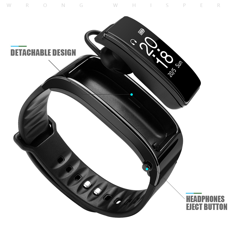 Bluetooth Y3 Talk Headset Smart band Bracelet heart rate monitor Sports Smart Watch Band Passometer Fitness Tracker Wristband (17)