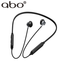 Original ABO Wireless Sports Bluetooth Earphone Waterproof Music Mic Control Headphones for Android iOS