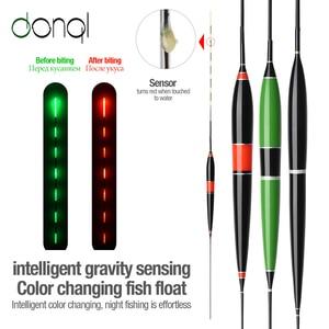 DONQL Smart Fishing Led Light Float Luminous Glowing Float Fish Bite Automatically Remind Electric Fishing Buoy With Batteries(China)