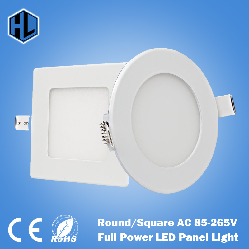 100PCS 3W 4W 6W 9W 12W 15W 18W 24W Quadrate/ Round LED panel light,ceiling recessed spot lamp, balcony,toilet, kitchen