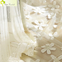 2018 Korean Embroidered Embossment Tulle Curtains For Bedroom Window Curtain For Living Room Kitchen Modern Sheer Voile Drapes