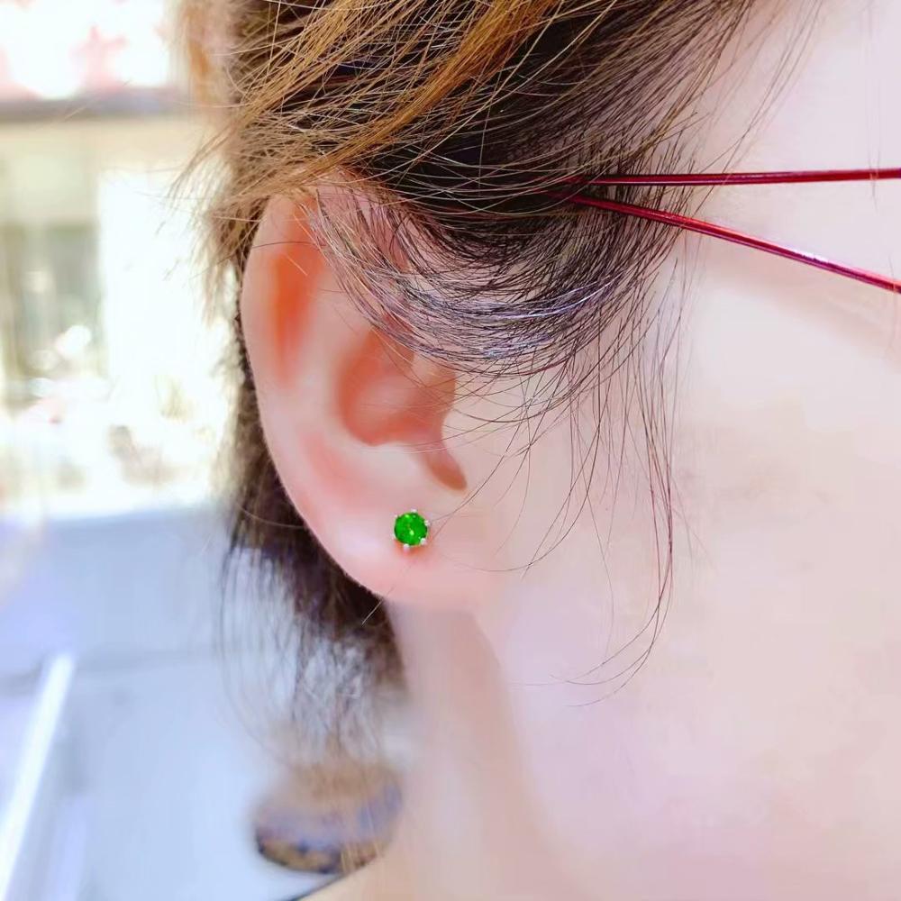 beautiful clear green diopside gemstone  earrings for women jewelrybeautiful clear green diopside gemstone  earrings for women jewelry
