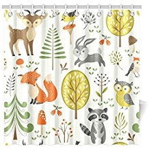 Charmhome Summer Forest Pattern With Cute Woodland Animals
