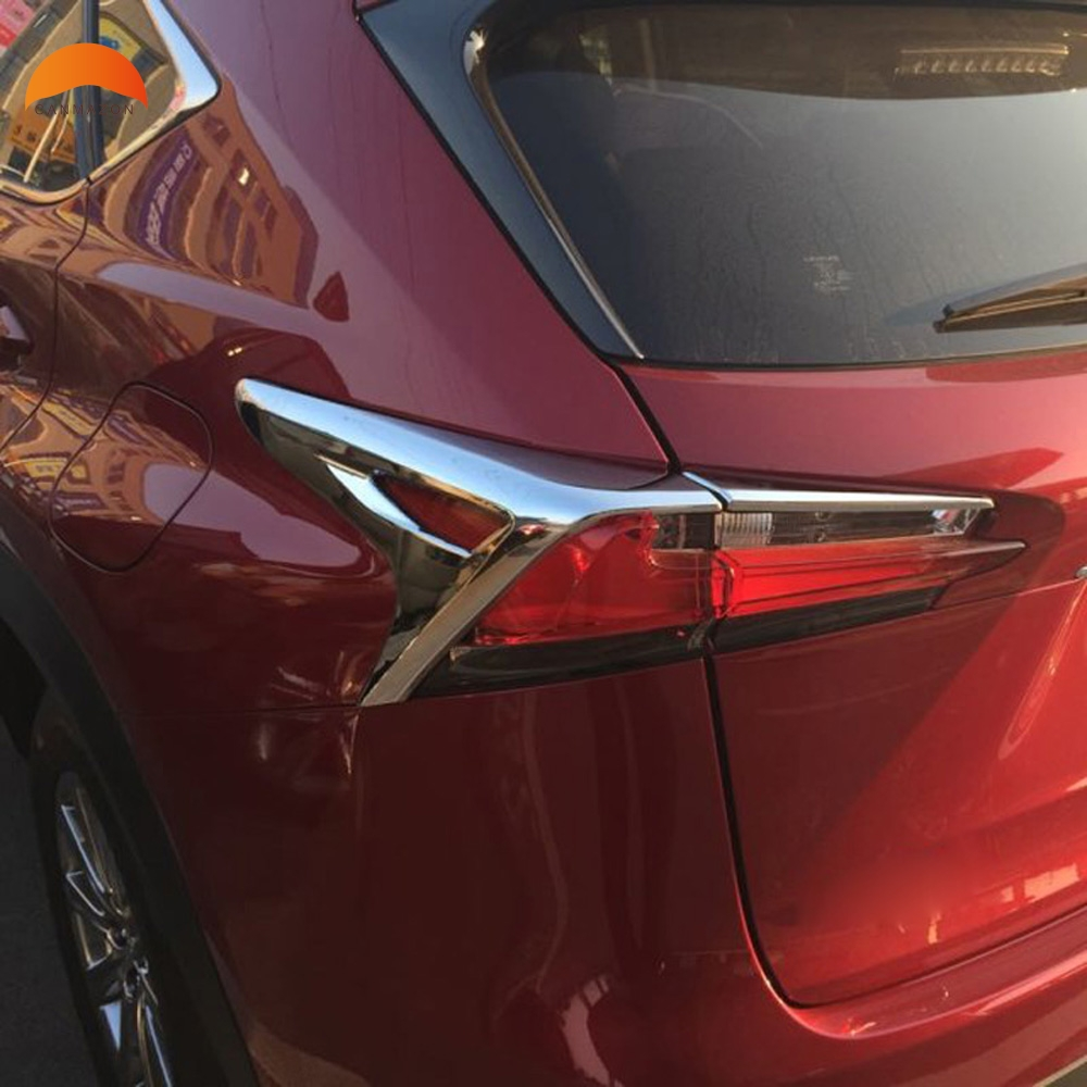 For Lexus NX200 NX200t NX300h 2015 2016 abs Chrome Rear Lamp Cover Tail Light Shade Frame Decoration Trims Accessories