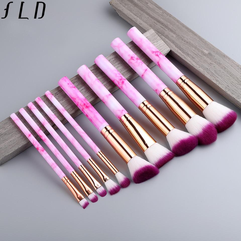 FLD 8 to 10 Pcs per Set Professional Makeup Brush Kit for Blending Foundation Eye Shadow Lipstick Eyeliner and Blush 2